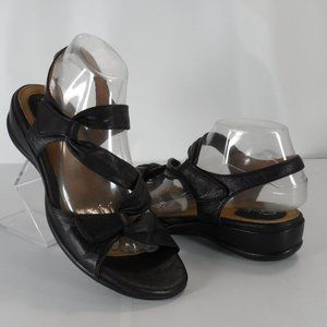 Clarks Artisan Lucena Black Leather Slingbacks